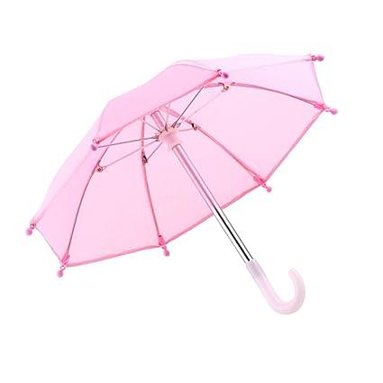 MagiDeal Paraguas Lindos para 18 Pulgadas American Muchahca Nuestra Generación Muñeca Accesorios Rosa/Rojo -