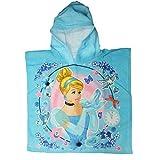 Disney Princess Cinderella Blue Children's Hooded Bath Towel Poncho