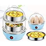 Tormeti Double Layer Egg Boiler Off 14 Egg Poacher for Steaming, Cooking, Boiling and Frying, Multicolour
