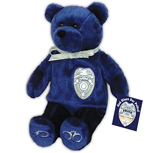 (Original Holy Bears Plush Bear Police Stuffed Animal with Inspirational Hang Tag Card and Prayer Card)