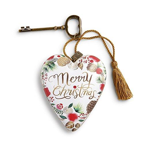 Merry Christmas Heart - DEMDACO 1003480126 Art Heart Merry Christmas Wreath Art Heart