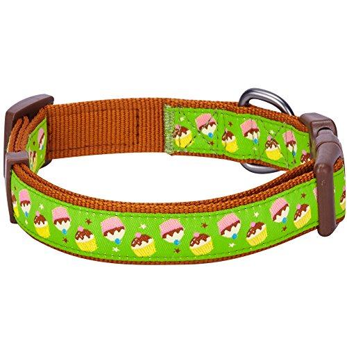Image of Blueberry Pet 8 Patterns Summer Party Ideas Cupcake Fantasy Weekend Spree Designer Dog Collar, Medium, Neck 14.5