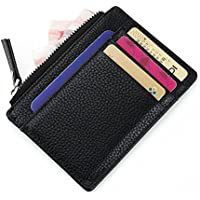 AOTUO Mens Slim Front Pocket Wallet (Black)