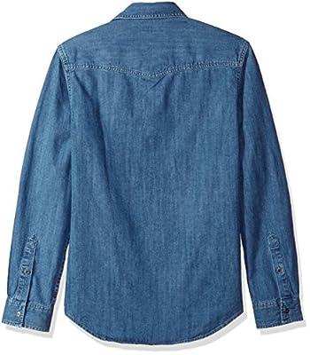 Calvin Klein Jeans Men's Long Sleeve Denim Western Button Down Shirt