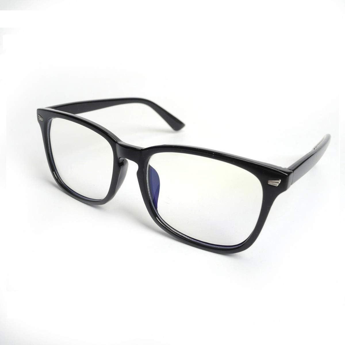 HOUSON - Gafas Protectoras para Ordenador (antideslumbramiento, antirreflectantes, antifatiga, Bloqueo, protección contra el Dolor de Cabeza, Lentes Amarillas) Transparent Linse