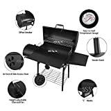 """Royal Gourmet 30"""" BBQ Charcoal Grill and Offset"""