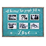 """Best CC Home Furnishings Photo Frames - CC Home Furnishings 31.25"""" Brushed Turquoise and White Review"""