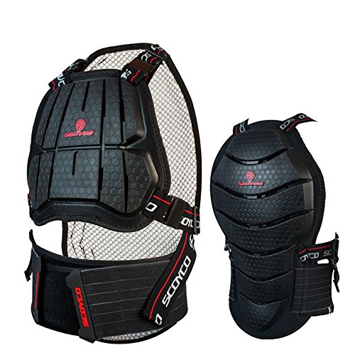 Scoyco AM04 Motorcycle Racing Body Armor Chest Back Protector Motocross Off-road Gear (L) by SCOYCO