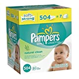 Pampers Natural Clean Baby Wipes Refill - 504 Count Pack of 2