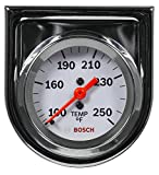 "Bosch SP0F000045 Style Line 2"" Mechanical Water/Oil Temperature Gauge (White Dial Face, Chrome Bezel)"