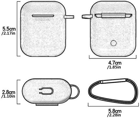Funda de Silicona con Soporte de Correa 7 en 1 para Apple Airpods Earpods Accesorios r15 Cloverclover