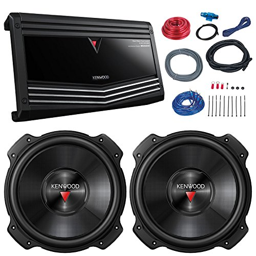 Kenwood Car Subs - Car Sub And Amp Combo: 2x Kenwood KFC-W3016PS 2000 Watt 12