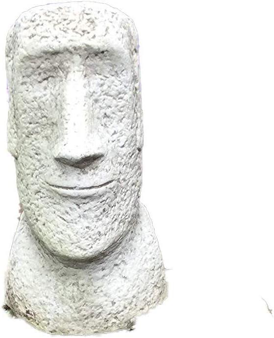 piedra Jardín Cabeza de la Isla de Pascua Estatua Escultura Figura Moái Tiki: Amazon.es: Jardín