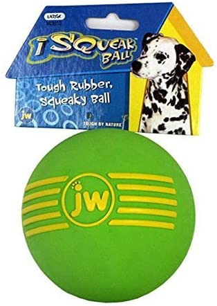 Dog Isqueak Ball Large by JW Pet Company: Amazon.co.uk: Pet