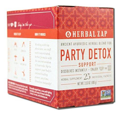 Herbal Zap Party Detox Ayurvedic Herbal Supplement 1 box of 25 packets