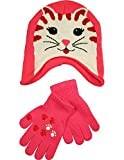 Winter Warm-Up - Little Girls' Cat Hat and Glove Set Fits Size 4-7, Pink 33752-onesize