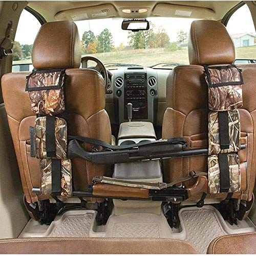 LIVIQILY Front Seat Storage Gun Sling Bag Car Seat Back Shotgun Rifle Rack Case Hunting Gun Holsters Pistols Organizer with Pockets