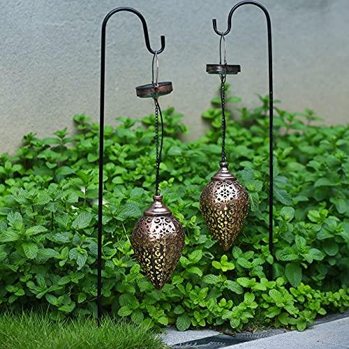 Hanging Solar Lights 2 Pack Outdoor Patio Decor 4 Colour Solar Lights Outdoor Garden