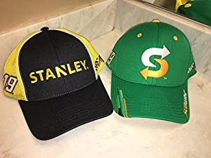 Lot of 2 Nascar Team Issued Hats Caps Daniel Suarez FitMax70 Joe Gibbs Racing Subway Stanley Tools Toyota TRD