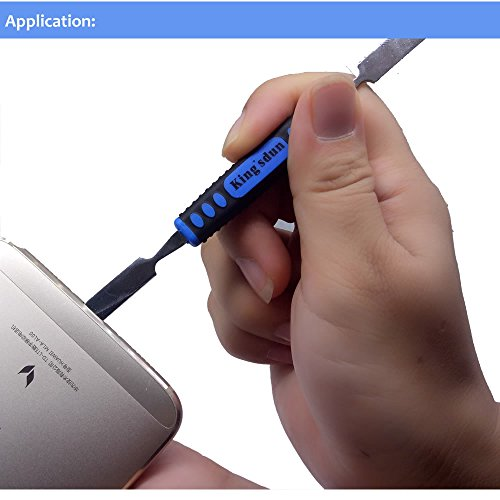 Kingsdun 24pcs Iphone 7 Repair Tool Kit for Apple iPhone 6/6S/5/5C/5S/4S, Ratcheting Screwdriver Bit Set with Metal Spudger Opening Pry Tools & ESD Tweezers in Mini Pocket Box by Kingsdun (Image #6)