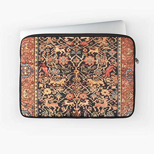 Antiques Persian Vase - Antique Persian Vase Rug with Animals Laptop Sleeve.