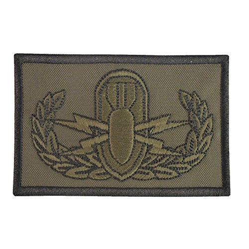 LEGEEON EOD Olive Drab Green OD Explosive Ordnance Disposal Bomb Squad Army Fastener Patch