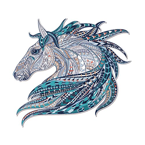 Roboco Dresses DIY Printing Heat Transfer Stickers, Iron On Appliques Horse Patches Gift