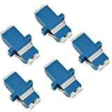 5 Pack Duplex Singlemode Coupler LC Fiber Optic Adapter Comm Cable LC to LC Adapter