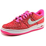 Nike Air Force 1 Big Kids Girls Court Sneakers Shoes Pink Size 6.5