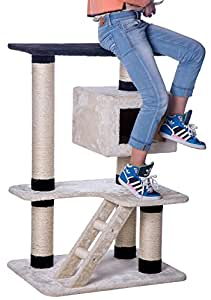 Carb-certified Merax Cat Tree Cat Tower House with Condo Scratching Post (Design-NO.10)