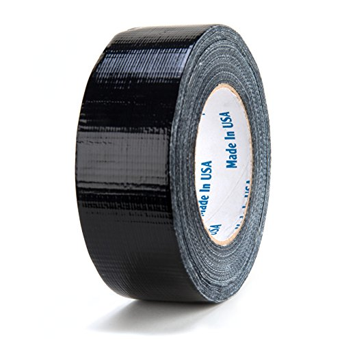 Chu's Packaging Supplies IPB250 Intertape Tape Utility Grade Cloth Duct Tape, 8.0 mil, Black, 2
