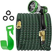 Expandable Garden Hose, 100 ft Flexible Expanding Water Hose, Leakproof No Kink Lightweight Hoses with 10 Func