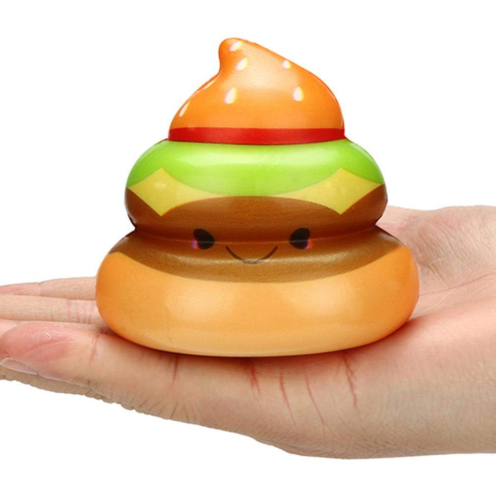 Lljin Squishies Kawaii Yummy Food Poo Slow Rising Cream Scented Stress Relief Toys (B)