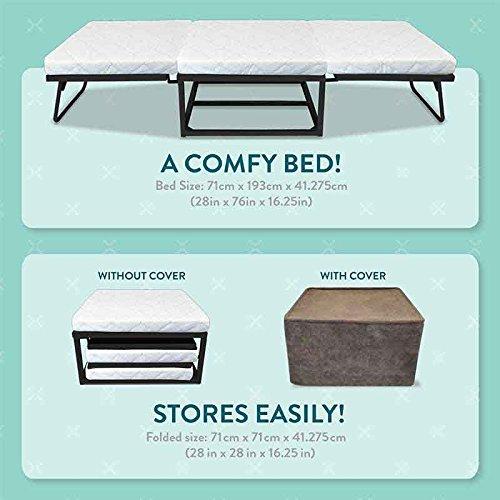 Novaform Home Stowaway Folding Bed Premium Memory Foam Guest Bed