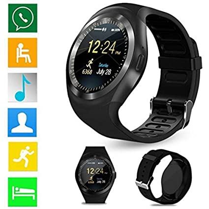 LtrottedJ 2018 Bluetooth Smart Watch Phone Mate Full Round Screen SIM For Android For IOS (