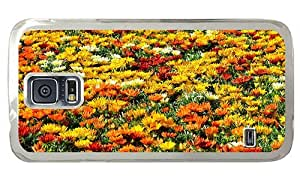 Hipster Samsung Galaxy S5 Case fashion colorful summer flower field PC Transparent for Samsung S5