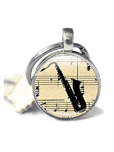Heng Yuan - Llavero de saxofón, Llavero de música, con ...