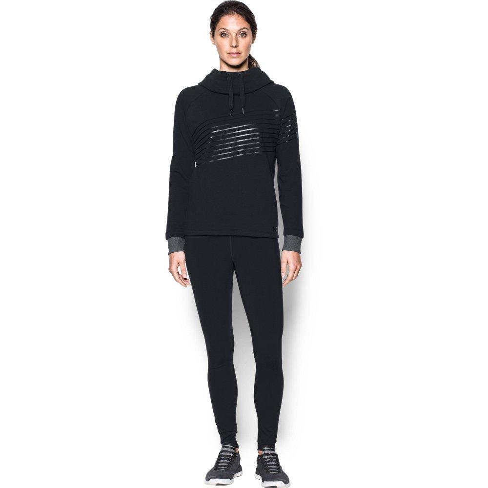 Under Armour Women's Threadborne Fleece Fashion Hoodie, Black /Stealth Gray, X-Small