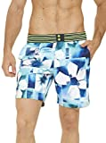 Robert Graham Men's Floral Paradise Swim Trunk, Multi, 36