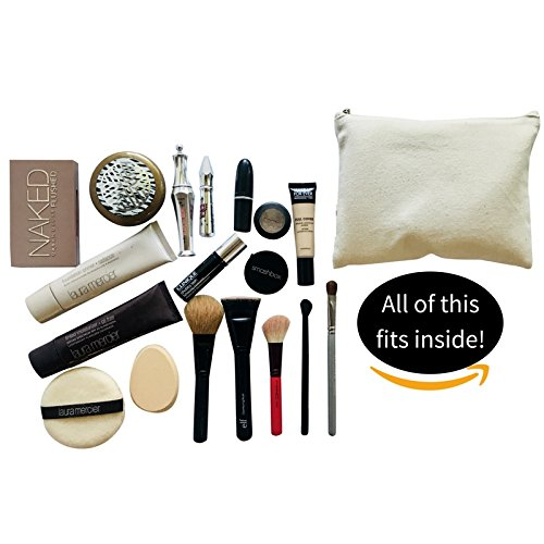Cosmetic Makeup Bag - TWO PACK - Case for Make Up - Trend Clutch (Contains my face/lips and lashes)