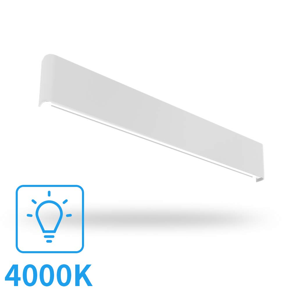 Aipsun 30W/32.6in Indoor Modern Rectangular LED Wall Mount Sconce Up and Down Wall Light Vanity bar Light Bedroom Living Room Bathroom Pathway Staircase Lighting Fixtures(White Light 4000K) by Aipsun