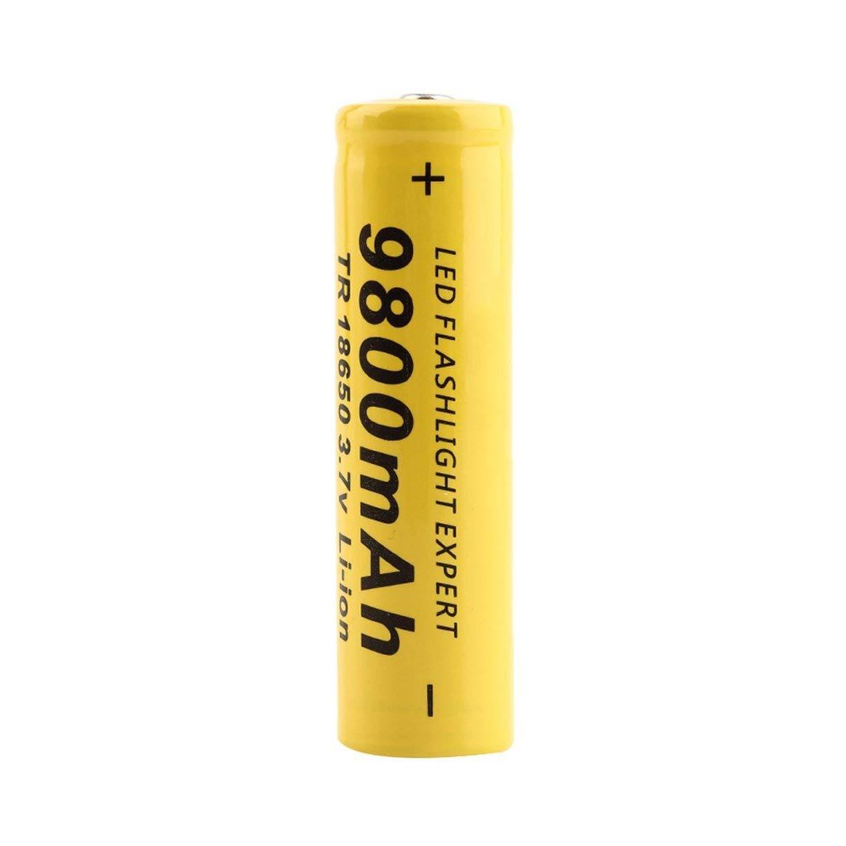 3.7V 9800mAh Li Ion Akku, 3.7V 18650 9800mAh Kapazitä t Li Ion Akku fü r Taschenlampe Gelb Shell Battery Low wieder aufladen Detectoy