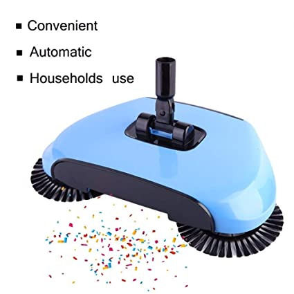 Taran Sweep Drag All-in-One Household Hand Push Rotating Sweeping Broom, Room and Office Floor Sweeper Cleaner Dust Mop Set