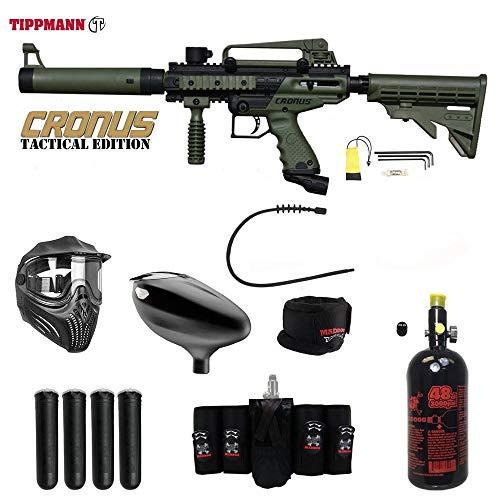 MAddog Tippmann Cronus Tactical Elite HPA Paintball Gun Package - - Elite Paintball Mask Thermal