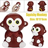 Newest Slow Rising Squishies Jumbo HEHEM Squeeze Monkey Cream Bread Scented Slow Rising Toys Phone Charm Gifts Jumbo Squishies Big Squishies Kawaii Squishies Squishy Toys (Brown)