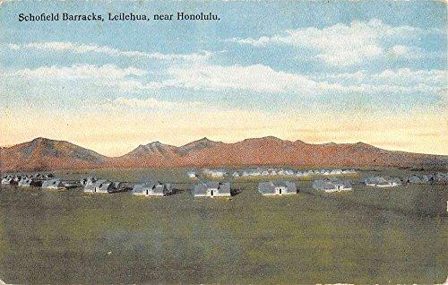 View Birdseye Postcard (Leilehua Hawaii Schofield Barracks Birdseye View Antique Postcard K88610)