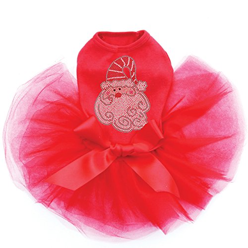 Dog in the Closet, Santa Face with Swirls in Beard - Dog Tutu