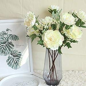 Fine Artificial Silk Fake Flowers Peony Floral Wedding Bouquet Bridal Hydrangea Decor Single Branch Peony Artificial Flower Holding Flower Fake Flower Road 31