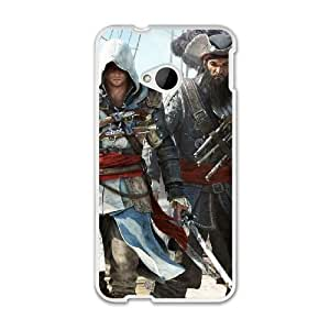 The best gift for Halloween and ChristmasHTC One M7 Cell Phone Case White Assassin's Creed IV Black Flag RPR4006261