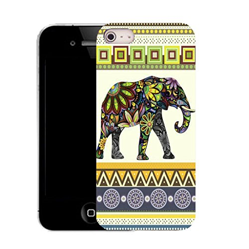 Mobile Case Mate IPhone 5 clip on Silicone Coque couverture case cover Pare-chocs + STYLET - yellow elephant pattern (SILICON)